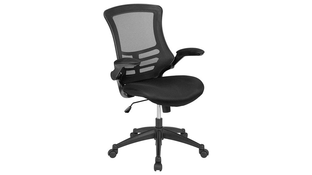 Flash Furniture Mid-Back Black Mesh Swivel Ergonomic Task Office Chair
